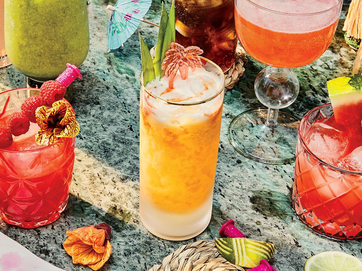 Passionfruit martini cocktail
